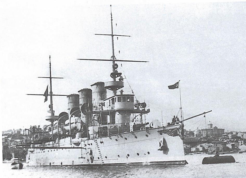 Mesudiye zırhlısı, Çanakkalede ingiliz denizaltısı tarafından batırıldı. tarihte bugün
