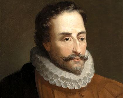 Don Kişotun yaratıcısı İspanyol yazar Miguel de Cervantes. tarihte bugün