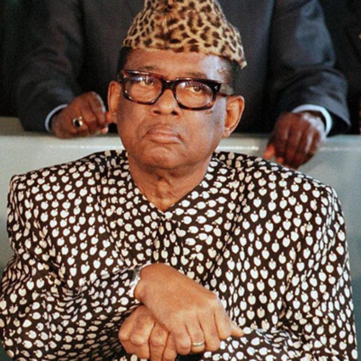 Mobutu Sese Seko, Demokratik Kongo Cumhuriyeti devlet başkanı (DY-1930) tarihte bugün