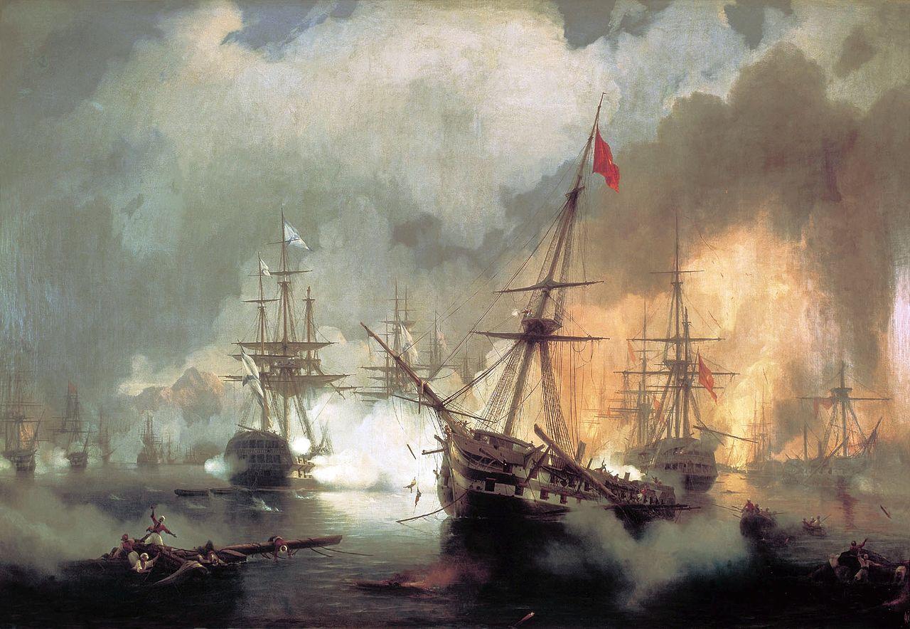 İngiliz, Fransız, Rus Birleşik filosu Yunanistan açıklarında Navarin'de Osmanlı donanmasını tahrip etti. tarihte bugün