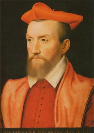Odet de Coligny, Fransız kardinal (ÖY-1571) tarihte bugün