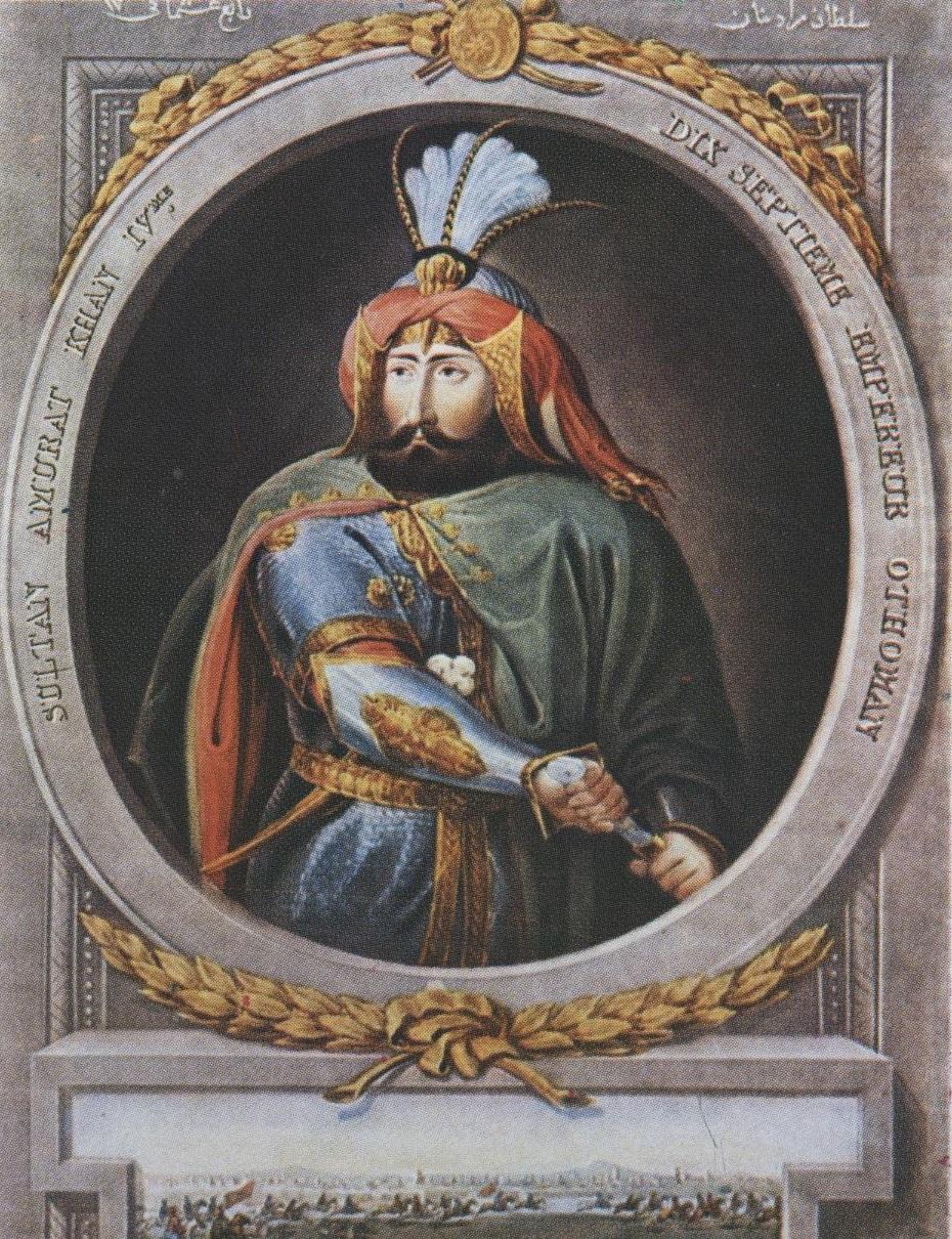 IV. Murat, 17. Osmanlı padişahı, 96. İslam Halifesi (DY-1612) tarihte bugün
