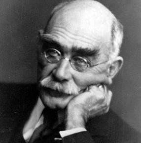 İngiliz şair ve yazar Rudyard Kipling. tarihte bugün