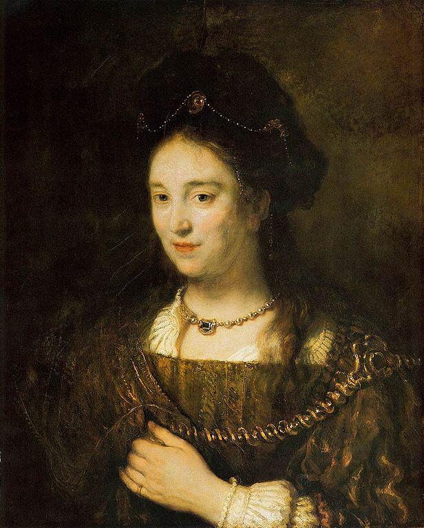 Saskia van Uylenburgh, Hollandalı ressam Rembrandt van Rijnin eşi (ÖY-1642) tarihte bugün