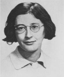 Simone Weil, Fransız yazar, düşünür(DY-1909) tarihte bugün