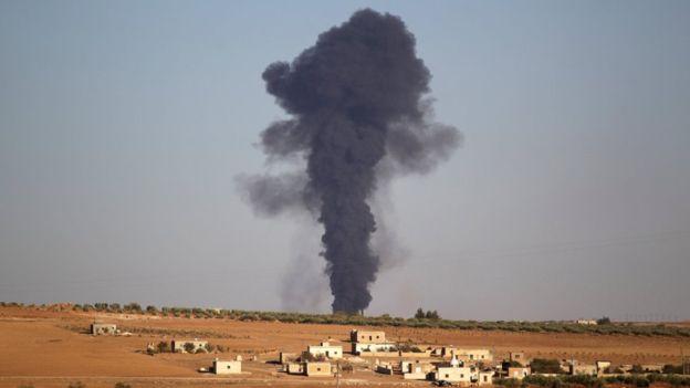 Suriyede Fırat Kalkanı Harekatı Saldırısı