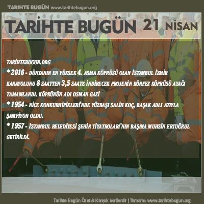Tarihte Bugün olaylar özet 21 Nisan