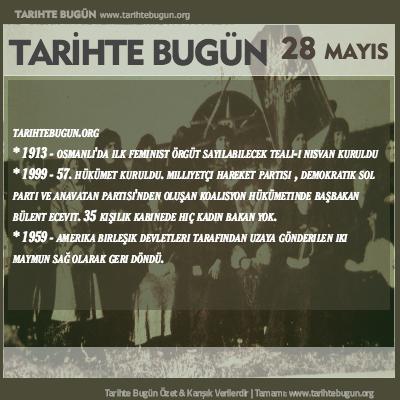 Tarihte Bugün olaylar özet 28 Mayis