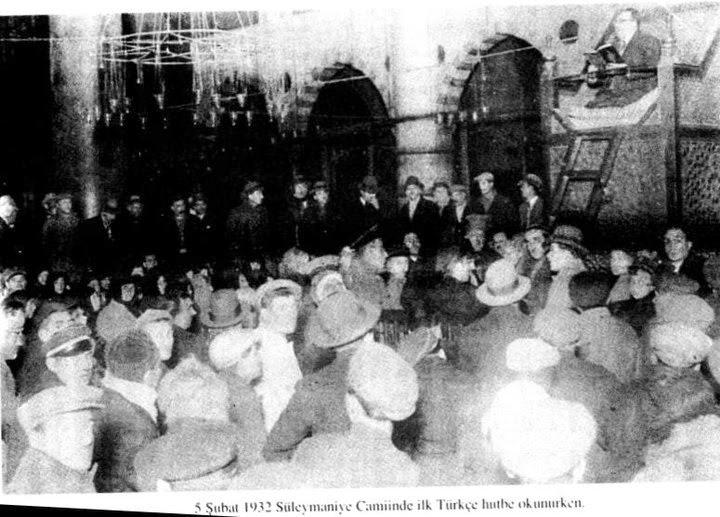 İlk Türkçe hutbe Süleymaniye Camii'nde okundu  tarihte bugün