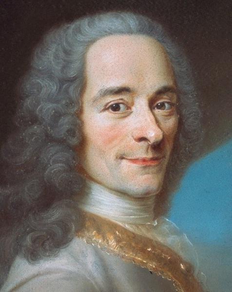 Fransız filozof Francois Marie Arouet, yaygın olarak bilinen adıyla Voltaire. tarihte bugün