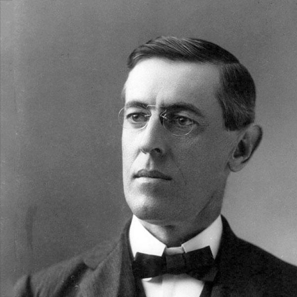 ABD'nin 28. Başkanı Woodrow Wilson. tarihte bugün