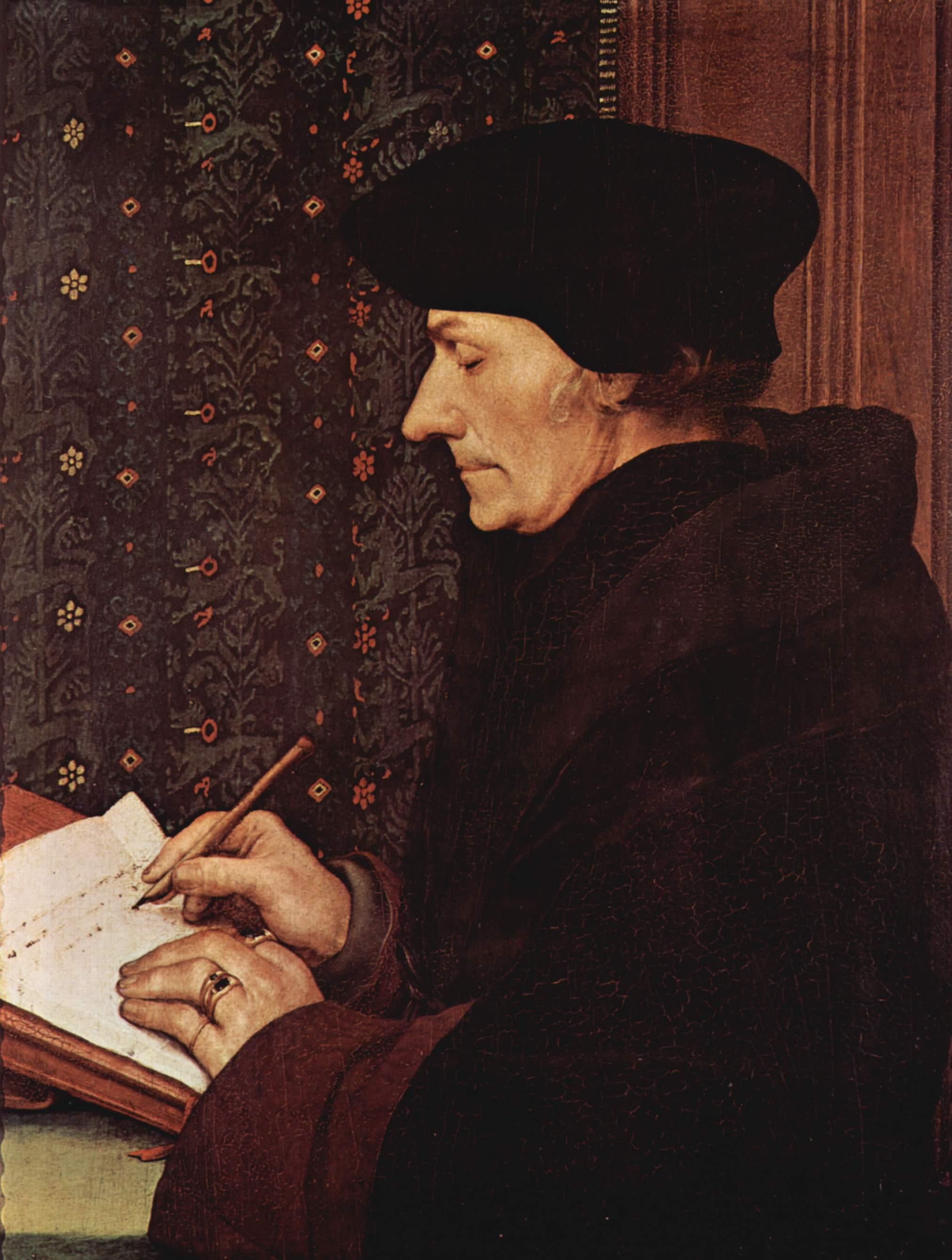 Yazar Desiderius Erasmus ölümü