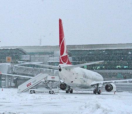 Yoğun Kar Yağışı THY  Seferleri Iptal